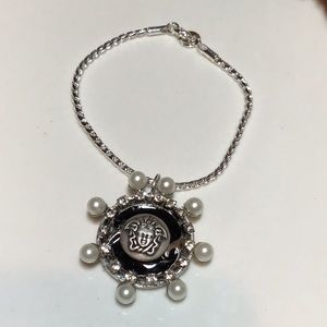 Sterling silver Bracelet Authentic Versace Button